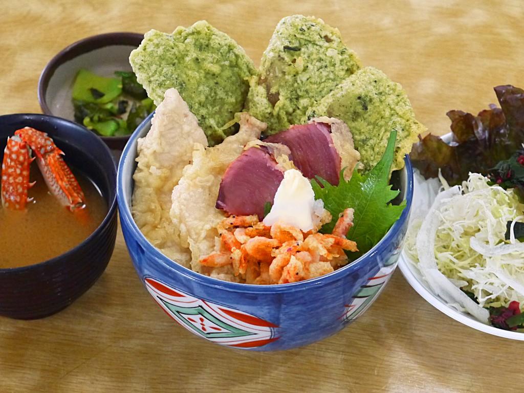 駿河海鮮茶天丼①